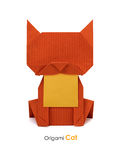 Origami red cat Stock Images