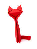 Origami red cat Stock Photo