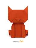 Origami red cat Royalty Free Stock Photos