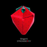 Origami red strawberriy Royalty Free Stock Photography