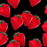 Origami red strawberriy Royalty Free Stock Photos