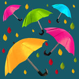 Origami red umbrella Royalty Free Stock Photo