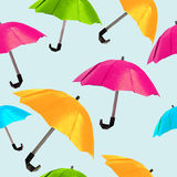 Origami red umbrella Stock Photos