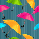Origami red umbrella Royalty Free Stock Image