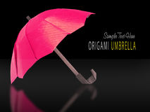 Origami red umbrella Stock Images