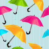 Origami red umbrella Royalty Free Stock Images