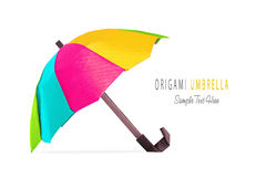 Origami red umbrella Stock Photography