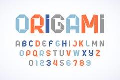 Origami redet modernen Guss an Stockfotos