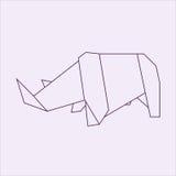 Origami rhino. Big origami animal pack collection Stock Photo