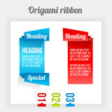 Origami ribbon Stock Photos