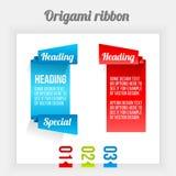 Origami ribbon royalty free illustration