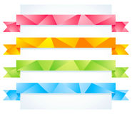 Origami ribbons Royalty Free Stock Photography