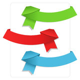 Origami Ribbons Royalty Free Stock Image