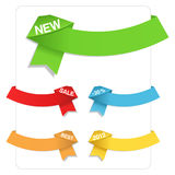 Origami Ribbons. On white background vector illustration