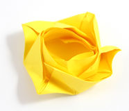 Origami rose Stock Images
