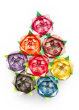 Origami roses Royalty Free Stock Images