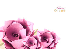 Origami roses Royalty Free Stock Image