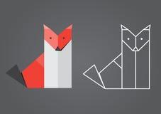 Origami räv Royaltyfria Bilder