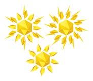 Origami słońce na białym tle Ilustracja Wektor