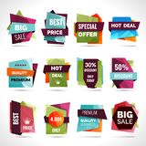Origami Sale Labels Royalty Free Stock Photography