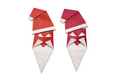 Origami Santa Claus. Red Santa Claus (origami, isolated Royalty Free Stock Photos
