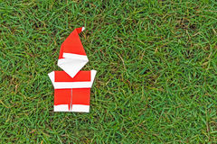 Origami santa claus Stock Images