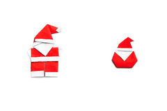 Origami santa claus Royalty Free Stock Images