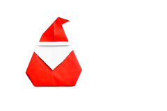 Origami santa claus Royalty Free Stock Photography