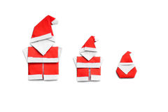 Origami santa claus Stock Photo
