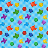 Origami sea pattern Stock Photography