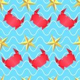 Origami sea pattern Royalty Free Stock Photo