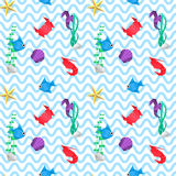Origami sea pattern Royalty Free Stock Photography
