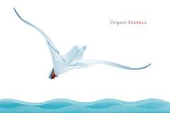 Origami seagull zdjęcie stock