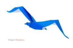 Origami seagull zdjęcia royalty free