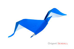 Origami seagull obrazy royalty free
