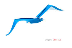 Origami seagull obraz royalty free