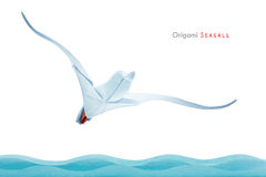 Origami seagull Stock Photo