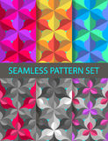 Origami seamless pattern set Royalty Free Stock Image