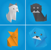 Origami set four Stock Image