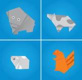 Origami set two Stock Image