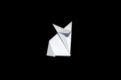 Origami in shape of Fox vector illustration