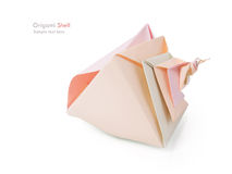 Origami shell Stock Image