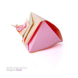 Origami shell Stock Photos