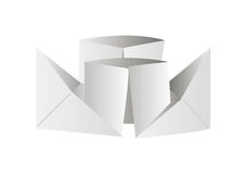 Origami ship Royalty Free Stock Image