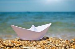 Origami ship Royalty Free Stock Photo