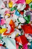 Origami ships Stock Image