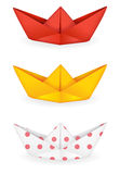 Origami ships set Stock Image