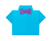 Origami shirt with bow tie Royalty Free Stock Photography