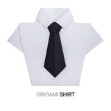 Origami shirt with tie Royalty Free Stock Image