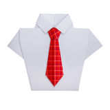 Origami shirt with tie Stock Photo